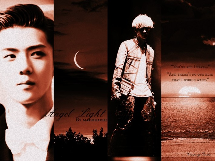 Angel Light - angst fluff magic romance exo hunhan charmed - main story image